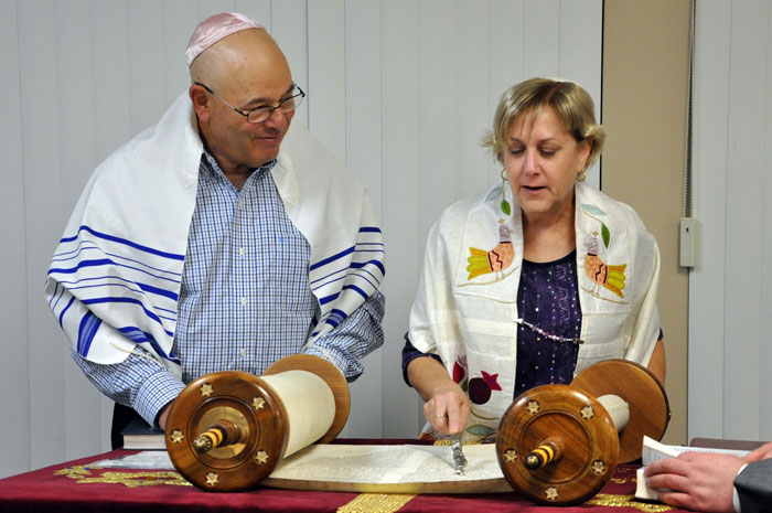 Members get involved by reading the Torah